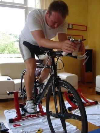 Fahrrad Rollentrainer Unterlage für Intervalle