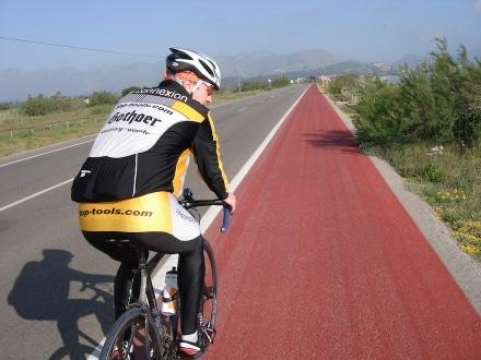 Fahrradbeleuchtung an der Gabel