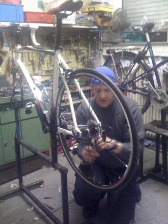 kleine Luftpumpe für das Fahrrad