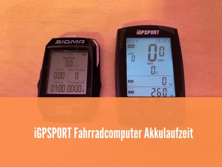 iGPSPORT Fahrradcomputer Akkulaufzeit