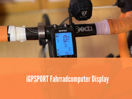iGPSPORT Fahrradcomputer Display