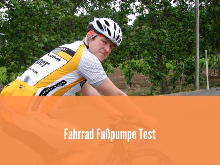 Fahrrad Fußpumpe Test